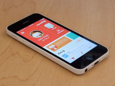 Experticity Mobile App - Expert Profile mobile design app brand profile