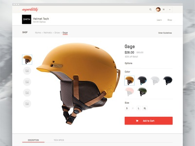 New Experticity - Shopping Product Detail store product app web ux ui ixd interaction design responsive ecommerce