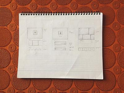 Mystery App Sketches app design iphone apple profile user