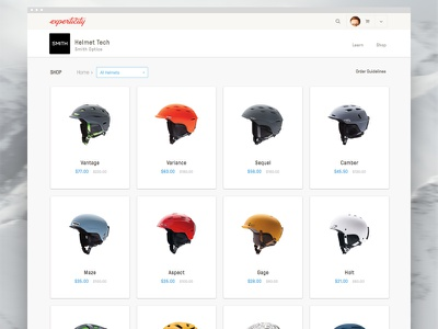 New Experticity - Product Browse ecommerce shopping retail product browse design ux ui app web design
