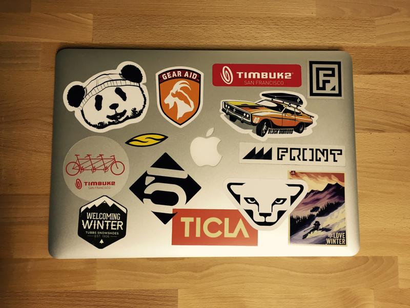Sticker Computer macbook pro apple stickers computer