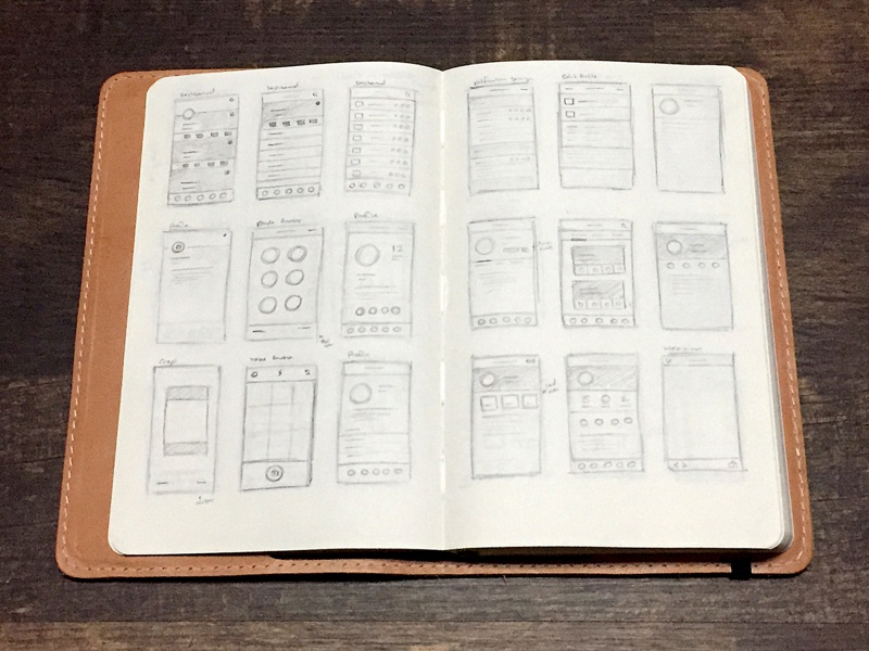 Instructure app sketches