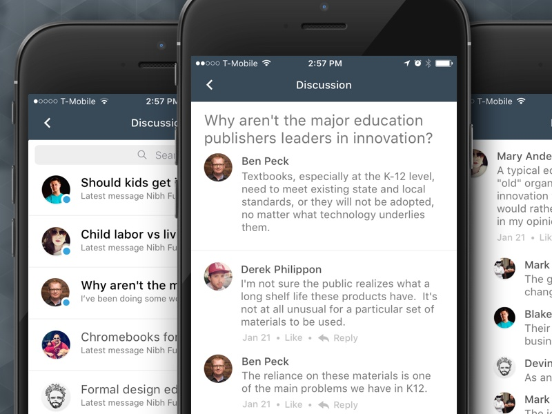 Instructure app discussion