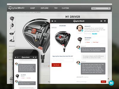 Needle Conversational UI messenger responsive store social ecommerce mobile ux messages chat profile avatar ui