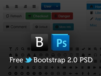 Free Bootstrap 2.0 Psd Template psd twitter bootstrap photoshop free template