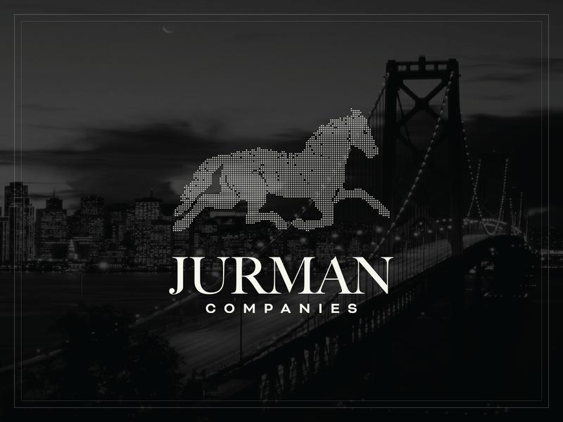Jurman Companies brand digital horse dots armani bridge horse illustration logo branding design luxury california luxury brand jurman companies jurman