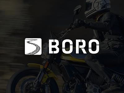 BORO branding logo design boro vector brand design motorcycle moto illustration logo branding design