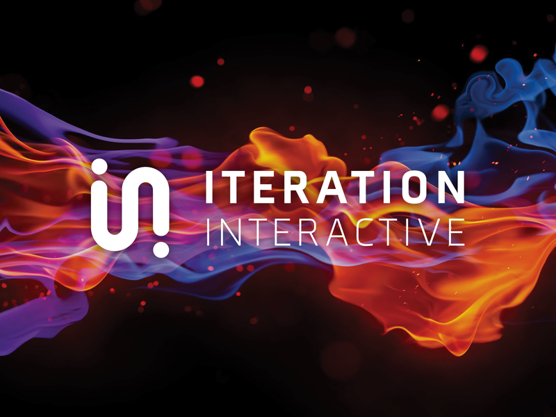 Iteration Interactive branding modern minimal vr unity brand design vector illustration logo branding design game studio games interactive iteration