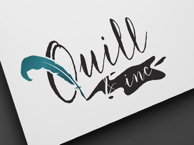 Quill and Inc branding logo ink feather inc quill