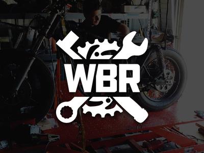 Wrecked Bike Rebuild Season 3 Logo design logo branding wrecked build repair motorcycle repair rebuild series sprocket socket wrench socket wrench youtube motovlogging motorcycle moto wrecked bike rebuild wbr chase on two wheels c2w