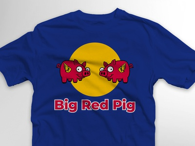 Big Red Pig supermoto build series shirt logo illustration design shirt design shirt tshirt pig with wings wings moto jake the gardensnake build series motorcycle sumo supermoto red bull pig big red pig