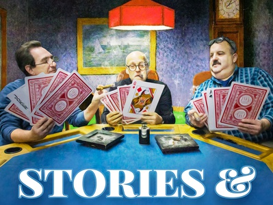 Stories & Stogies podcast art season 1 dogs playing cards playingcards cigars podcasts design podcast stogies stories