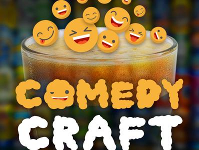 Comedy Craft podcast art season 1 podcast art craftbeer craft beer mad scientist media msm comedy podcast comedians comedy funny podcast logo branding design