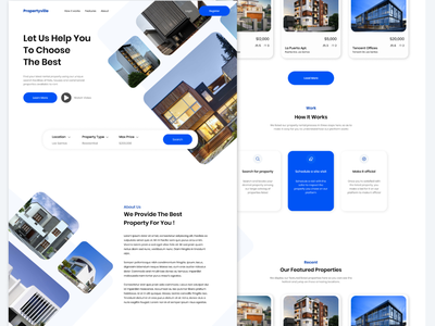 Propertyville design ux ui landing page property