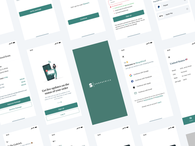 ShopAfrica - a package delivery app mobile app ux figma ui delivery app