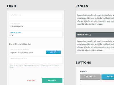 Basic Interface (WIP) ui user interface wip button form panel tooltip buttons input