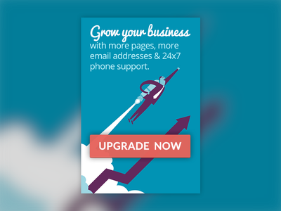Upgrade Banner banner upgrade call to action button