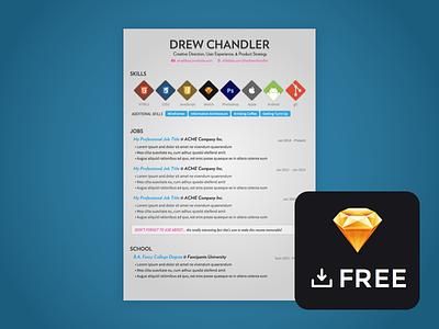 Freebie Sketch: Resume Template free freebie sketch resume template design simple typography clean verlag pt sans source sans pro