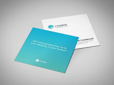 Lifebox business card lifebox business cards brand identity design square clean simple