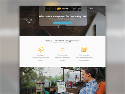 HippoEd  hippoed abril proxima nova web design home marketing splash landing page proof of concept