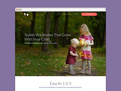 chillbaby refresh design ui branding landing page web web design long scroll lato montserrat