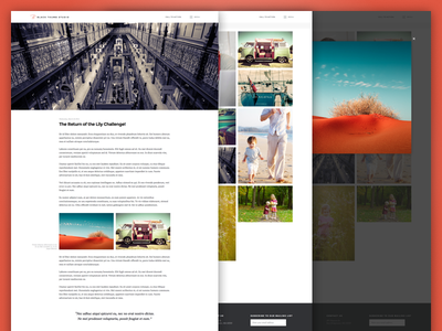 Black Thumb : WIP blog design ui landing page web web design pt serif montserrat