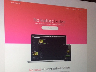 BloxMob Identity Concept montserrat yanone kaffeesatz gradient web design landing page branding