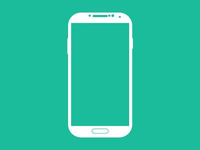Galaxy S4 Vector Sketch Shape (free) android svg sketch freebie free s4 galaxy samsung flat