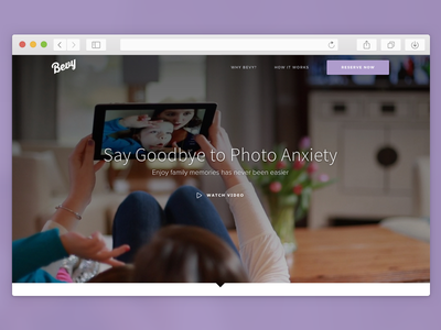 Bevy Web Site bevy source sans pro proxima nova simple website web design full screen interface design web