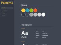 Pattern Library (WIP) navigation cabin gotham typography design interface ui kit component library pattern dashboard