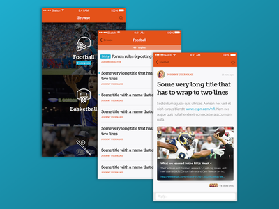 Tapatalk Refresh tapatalk ux ui wireframe text forum ios design app mobile