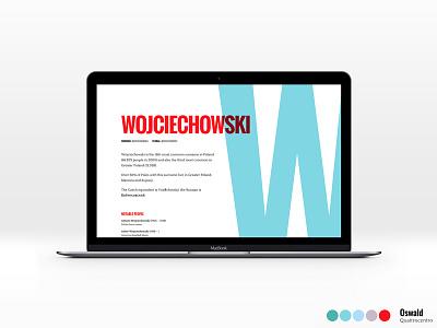 Design Roulette random swiss colors quattrocentro oswald typography challenge design web