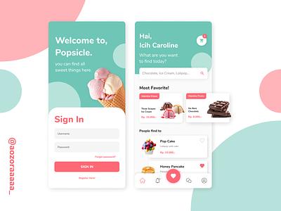 Popsicle App figmadesign design ui