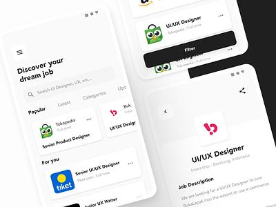 Job Finder Exploration ui design figmadesign