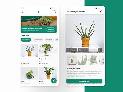 Plant Shop Exploration figmadesign ui design