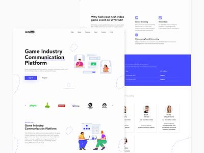 WN Hub Web Redesign Exploration ux ui figmadesign exploration simple clean interface figma illustrations webdesign