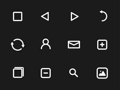 IconPack - Black Version iconographic design iconpack