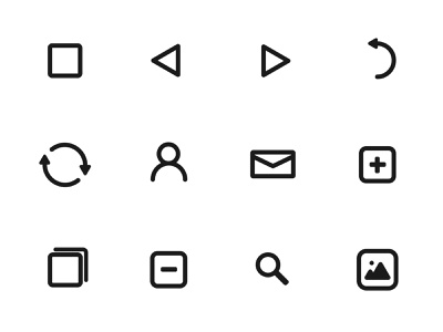 Icon Pack - White Version iconographic design iconpack