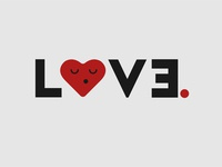 Love Logo Typhography