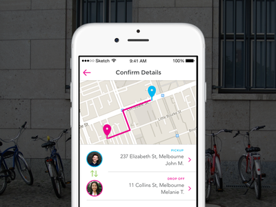 Courier App app ios uber deliver fetch pickup bike delivery courier