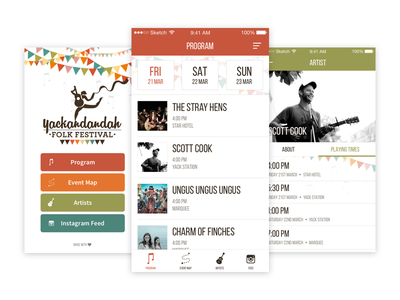 Yackandandah Folk Festival App australia country feed event artists community ios app music folk