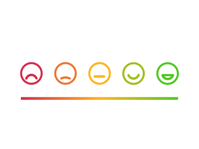 Emojis request professional career emotion gradient sad happy rating feedback emoji