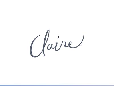 Personal logo sketch illustrator purple calligraphy lettering portfolio personal logo claire