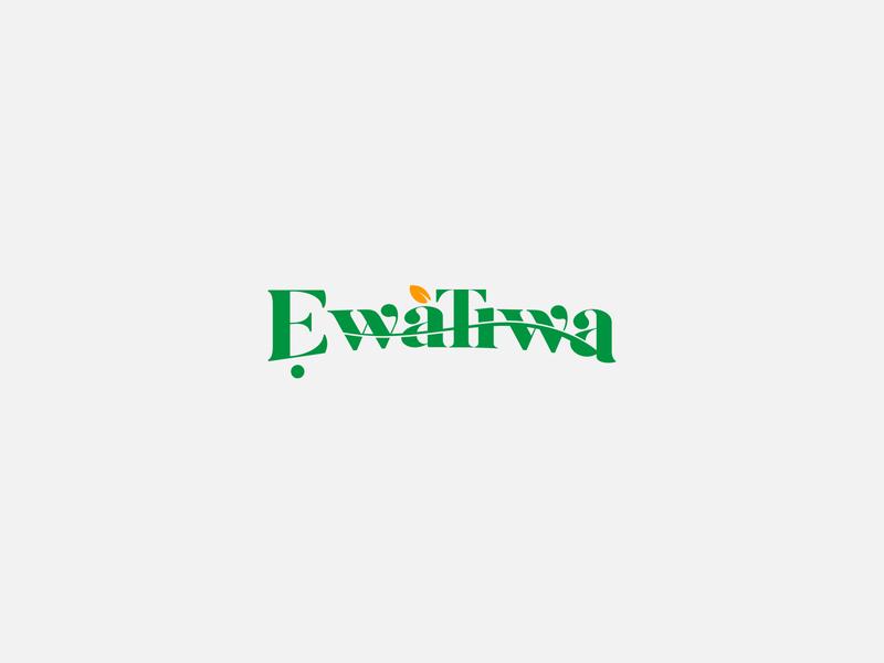 Ewatiwa skincare skincareherbal skin food branding design logo typography