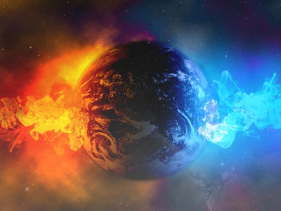 Explosion cool blue orange space earth photoshop explosion effects