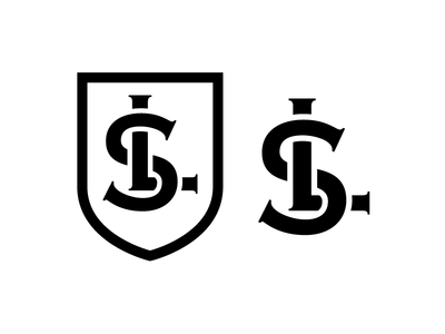Scarpello And LaTour black and white strength lawyers copperplate line logo