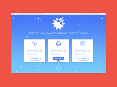 Dailyui003 Dribbble above the fold landing page fold dailyui003 dailyui
