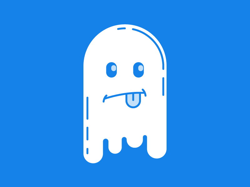 Ghosty line art arcade pac-man ghost