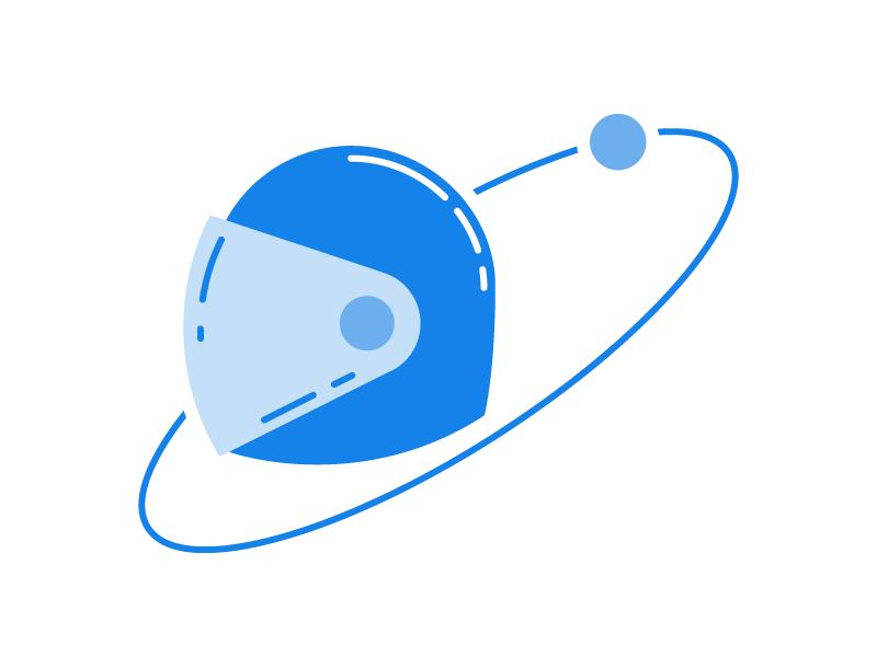 Astro planetary stellar line art space astronaut
