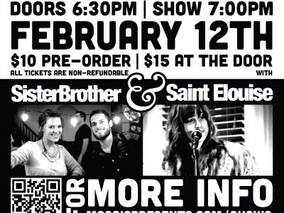 Oceans In Love Show Poster show band bands sister brother sister brother music
